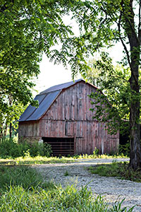 Rustic barn on the Kindrick farm.