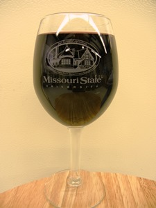 Missouri State wine glass